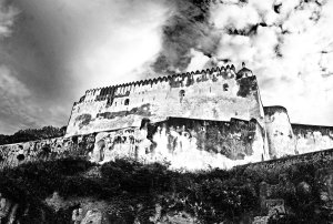 fort_jesus_black_and_white_by_devilregect-d2q5wmn